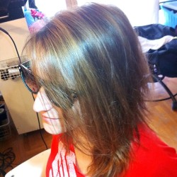 New cut & color for Katerina! @kapavou #nofilter  #hair #haircolor #hairstylist #hairandmakeupbyliz #hairbylizbumgarner