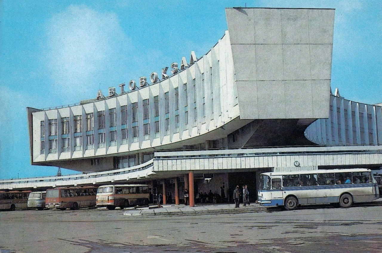 The Leningrad bus station