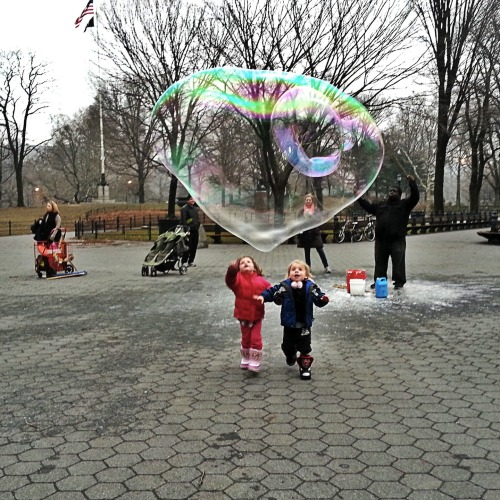 Bubbles and babies.