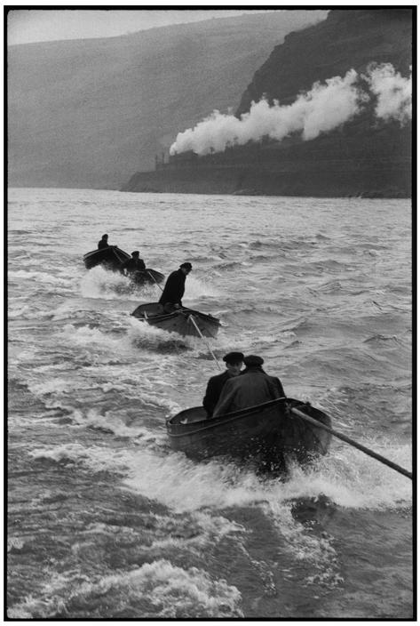 adanvc:  Descending the Rhine River, Germany, 1956. by Henri Cartier-Bresson