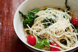 what's for dinner? // spaghetti with broccoli rabe by dothezonk on Flickr.