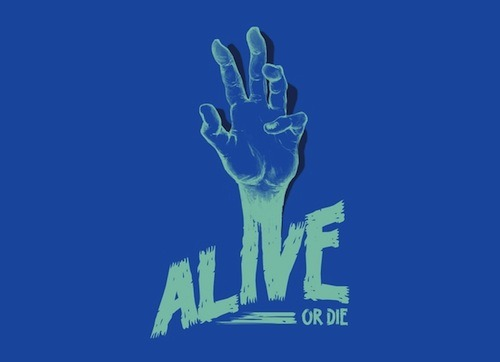 We loved the Alive or Die design by Katie Campbell so much that we printed it on a tee, an iPhone case, AND as wall art! Like Katie's art? Check out her MADE collection!