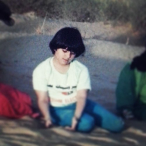 Mini me :p #dreaming #throwback #childhood #sand #playing #kidsphoto #instakid #memory