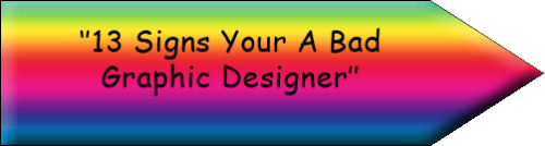 I'm literally nauseated by this. Comic sans, rainbow gradient, poor type proofing… *cringe*