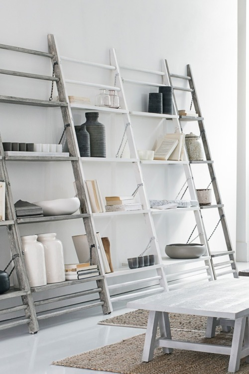 hereclecticinterior:  Leaning shelves from french connection