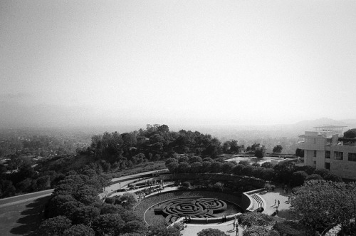 ILFORDHP5_APR2013-10 on Flickr. Above the Getty Center gardens. I'm always wary of taking photos that have been taken dozens and dozens of times, like this view from the top floor of the Getty. But this shot came out great.