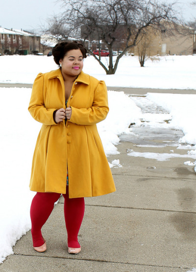 therotund:  melbumblebee:  By Marcia from Precious Style  THAT COAT. And her whole look in general.