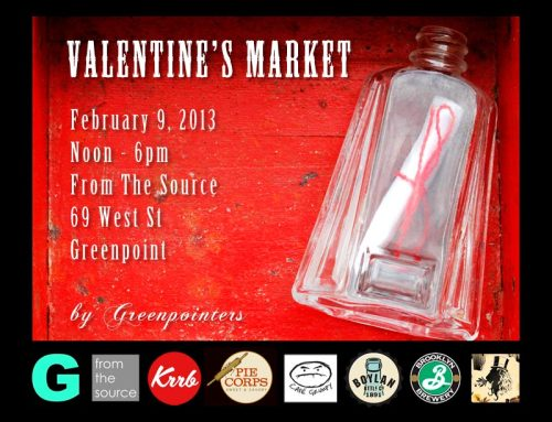 "I'll be selling jars of my homemade ""Nutella"" at the Greenpointers Valentine's Day Market next Saturday!  I'll have Original, Bourbon and Spicy for $7 for a 4oz jar.  Come by and pick up something sweet for your sweetie (or for yourself)!  Greenpointers Valentine's Day MarketSaturday, February 9th, 2013From The Source 69 West St., Greenpoint BrooklynNoon-6pm"