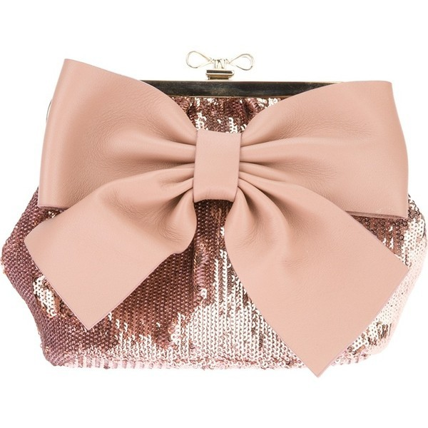 Red Valentino sequin embellished bag   ❤ liked on Polyvore (see more red valentinoes)