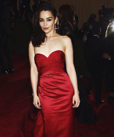 Emilia Clarke at the MET Gala, May 6, 2013