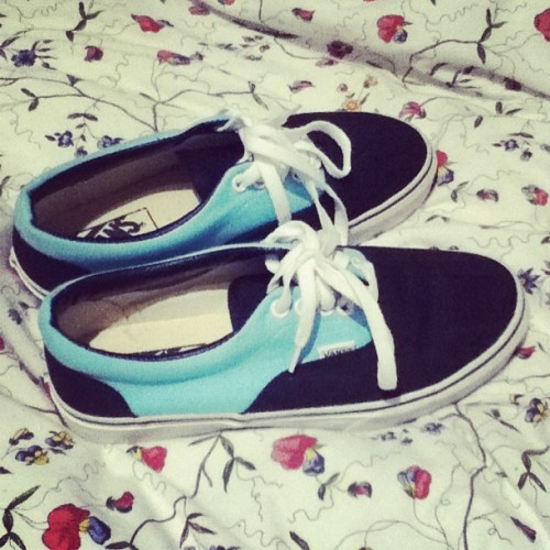 Awwwwwwww*_* #vans #blue #black #summer #shoes #new @alvaritoou el masmejoooor