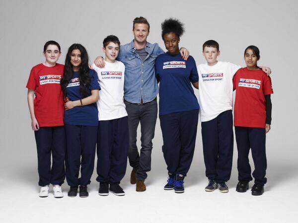 David Beckham - Our big news today… Sky and David Beckham joining forces to boost grassroots sport