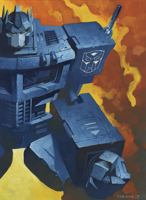 theessentialsofcool:  Optimus Prime by Chris Stevens