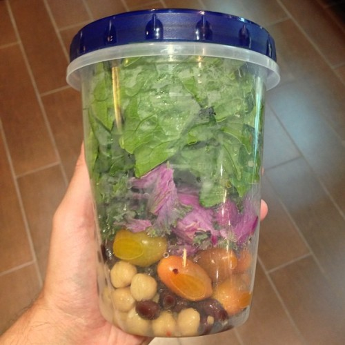 My version of salad in a jar! Do you remember McDonald's salad shakers?