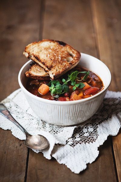 mixed bean soup by the little red house on Flickr.