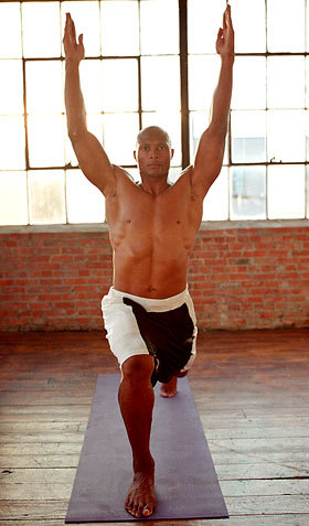 High Lunge Football player Eddie George