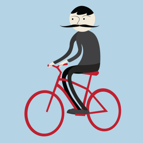 'Bike Man' Illustration by Liah Moss