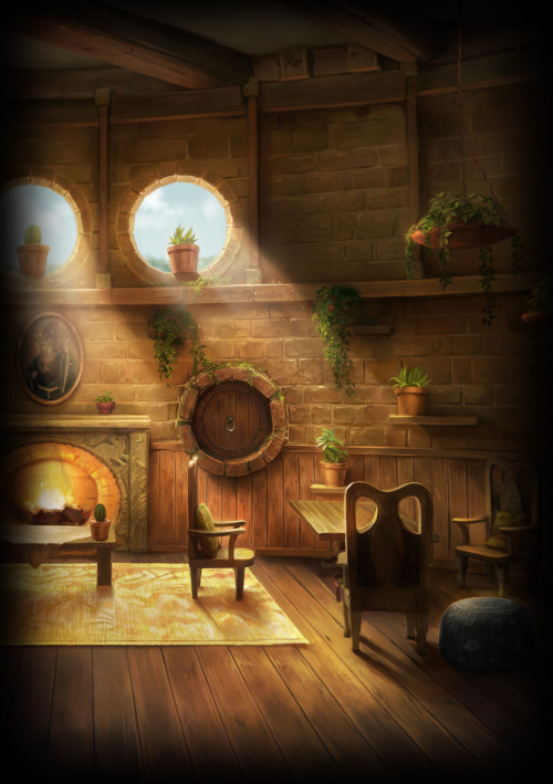 batlesbo:  allforpotterandmore:  zacharyalllen:  NEW HUFFLEPUFF COMMON ROOM ART ON POTTERMORE.  THIS IS MY HOME  WELCOME!  i FIND this to be the best common room ever