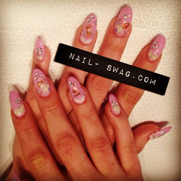 THE CHARUB NAIL for Riley! #nailswag #nails #nailart #naillabo #nailartclub #nailsontour #fromlatothebay #SF #sparklesf