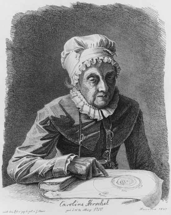 "sciencesoup:  Badass Scientist of the Week: Caroline Herschel  Caroline Herschel (1750-1848) grew up in Germany, as the daughter of a professional musician. Her father gave all his children a broad basic education in art, music, and science. His wife did not approve of educating her daughter, and when her father died, Caroline's mother put her to work in the kitchen. Caroline had had several childhood diseases that had left her slightly disfigured, and her mother didn't think she'd be good enough to marry, so she settled on a life of housework for her daughter.  Meanwhile, one of Caroline's older brothers, William Herschel, had moved to England, where he was working as a composer and music director, and built telescopes in his spare time. When he found out that his mother had put his sister to work as a servant, he invited Caroline to move in with him in England. She did, and quickly got a successful career as a singer. While Caroline stayed with William, he made a discovery that would change both of their lives. Using a telescope he built himself, William Herschel discovered the planet Uranus in 1781. He was hired by King George III as ""King's Astronomer"", and quit his music career to devote all his time to science. Caroline helped him out, first by cleaning lenses and taking notes, but later with astronomical observations of her own.  She discovered a number of comets, including one that was named after her, and as reward for her work, the state paid Caroline a regular stipend, making her the very first woman to receive a salary for scientific work.  Guest article written by Eva, who writes about scientists/musicians on easternblot.net and on Tumblr as MusiSci"