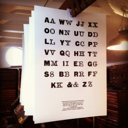Hot off the Press! Rob's #letterpress type sample poster, showing 8 line Square Sans & Tuscan alphabets: by typoretum http://bit.ly/XLyKC4