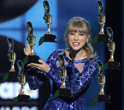 eyesopen:  Taylor and the awards she won tonight