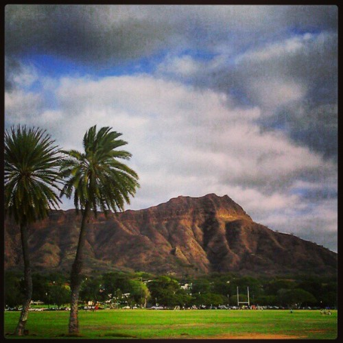Kapiolani Park on a cloudy day.