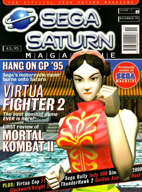 Official Sega Saturn Magazine Virtua Fighter 2 cover.