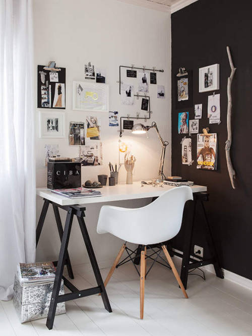one of my favourite workspace in a corner (via desire to inspire - Carina Olander)