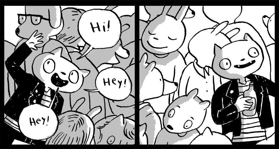 "New comics over at Studio YOLO! This month I got to pick the theme, and I picked ""Animal Party."" How could you go wrong? Go check 'em out while they're fresh!"