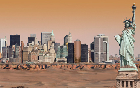 laughingsquid:  What New York City Would Look Like on the Surface of Other Planets