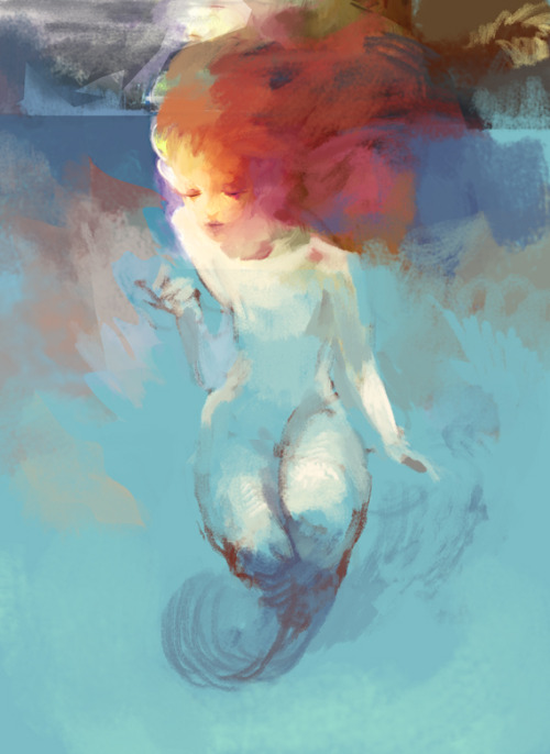 felixinclusis: jazz-sparks: Mermaid by hoooook (Woo-Jin OH)