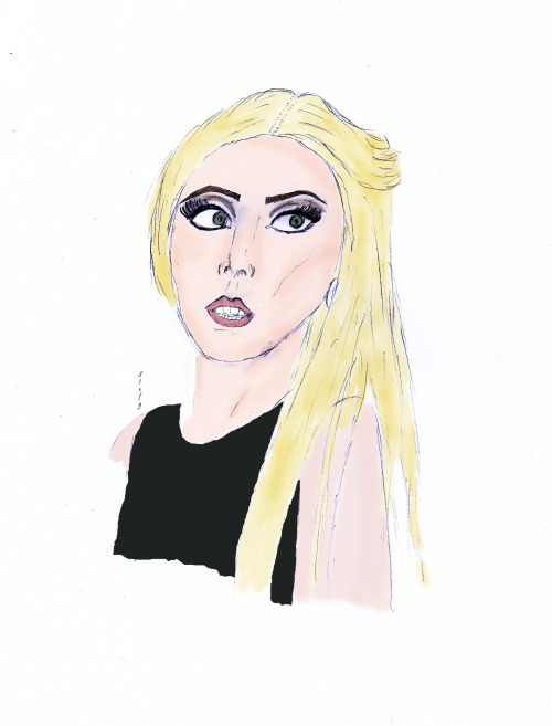 My draw of Lady Gaga in Milan october 2012