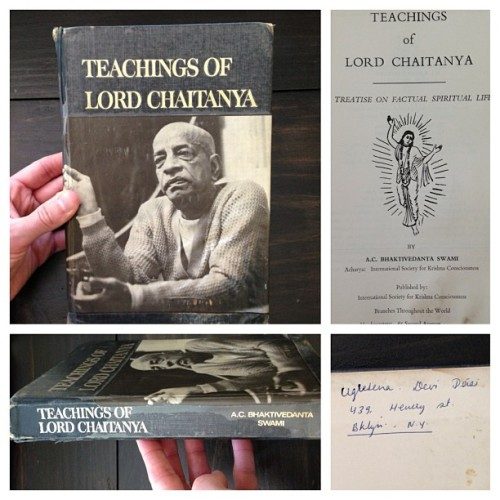 "A unique copy of ""Teachings of Lord Chaitanya"" donated to my Bhakti Archive project by my brother Bal Gopal Prabhu"