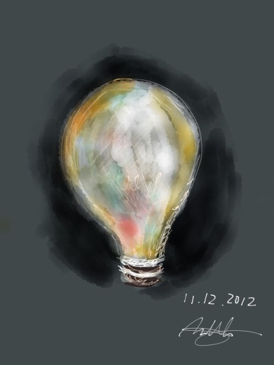 Bright ideas often begin in the dark. by Matthew Chan, an artist and student living in Hong Kong
