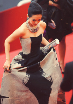 Zhang Ziyi attends The Bling Ring premiere during The 66th Annual Cannes Film Festival on May 16, 2013.