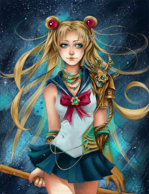 Steampunk Sailor Moon by *Chemical-Exorcist