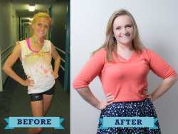 """fullbodiedlovin:  Here's to a week for the unconventional before and after photos, National Eating Disorder Awareness Week. For most of my life, I've been heavier, and consequently shamed and belittled for my weight. When I started college, however, I weighed 103 pounds, was eating 400-600 calories a day, doing about 90 minutes of cardio daily, and most importantly, I was anorexic. I was 15 pounds underweight, but no one thought to say anything because they were too busy applauding me for my unnatural weight loss. This is me calling them out. This is my telling them they were wrong. This is me thanking my real life and tumblr friends for everything they have done to get me to the wonderful place I am today. So fuck you traditional pictures of """"healthy"""", I may be fat, but I beat my eating disorder."""