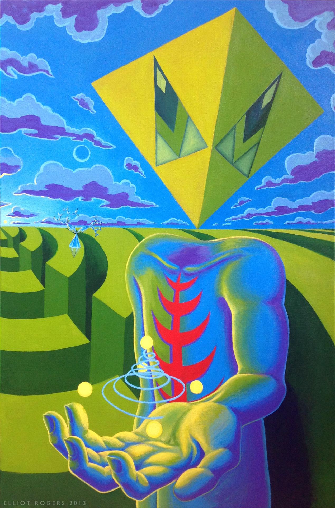 """2013 Acrylic on Canvas, 20"""" x 30"""""""