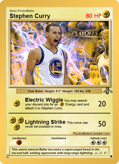 The Steph Curry Pokemon Card.