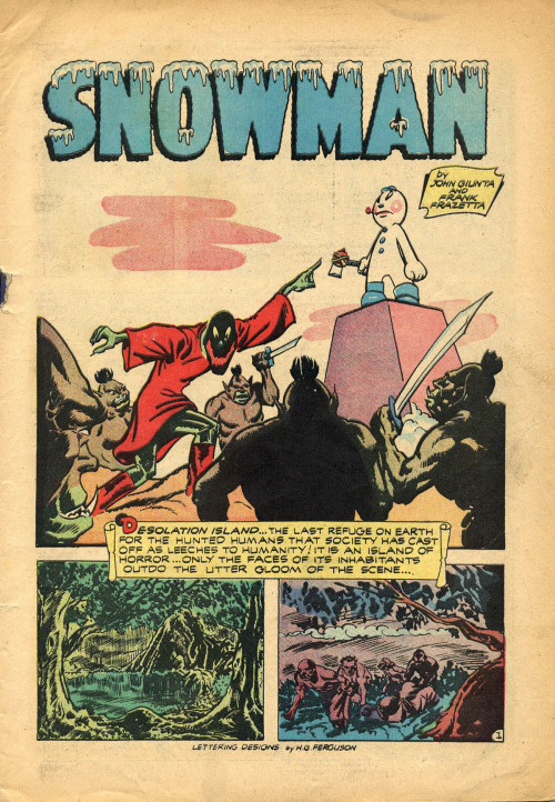 Snowman Frank Frazetta  Spectrum Fantastic Art Live 2 - May 18 -19, 2013 - Kansas City, Missouri