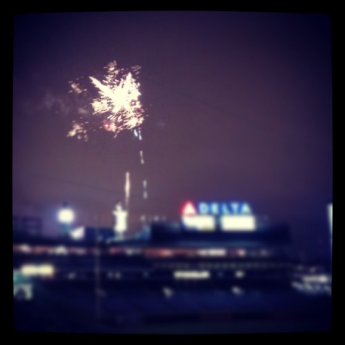 Friday night #Fireworks. #Braves #latergram  (at Turner Field)
