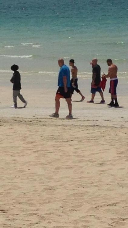 Photo of Justin on the beach in Dubai