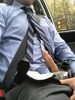 frattytastic:  showing off his cock in the car