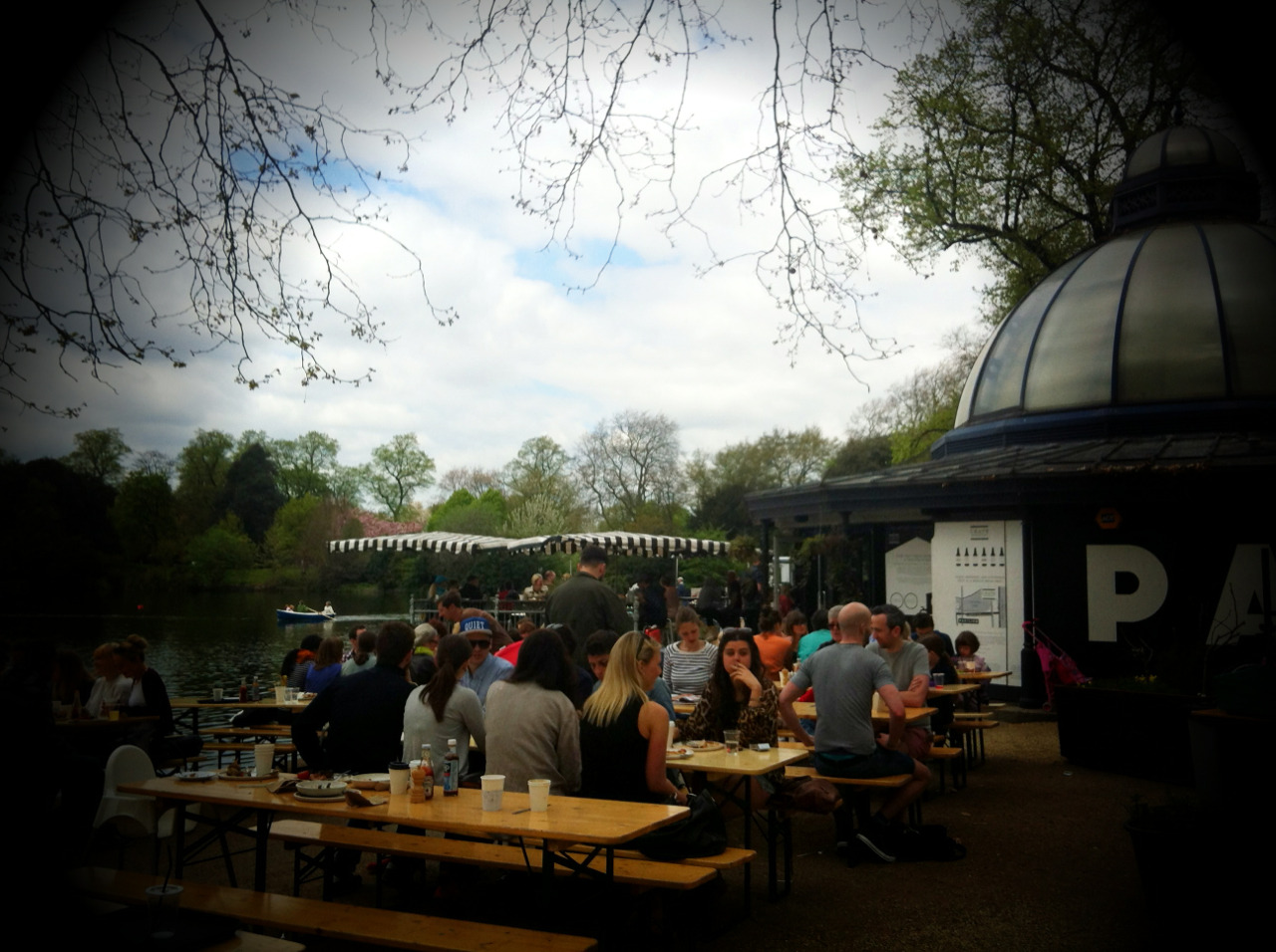 Hipsters & Babies in equal measure at the Pavilion in Vicky Park