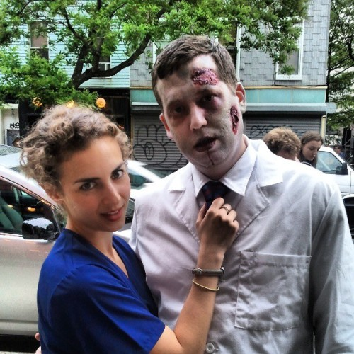 On set with @darden_ryan @dardenryan eatin some brains and feelin some love