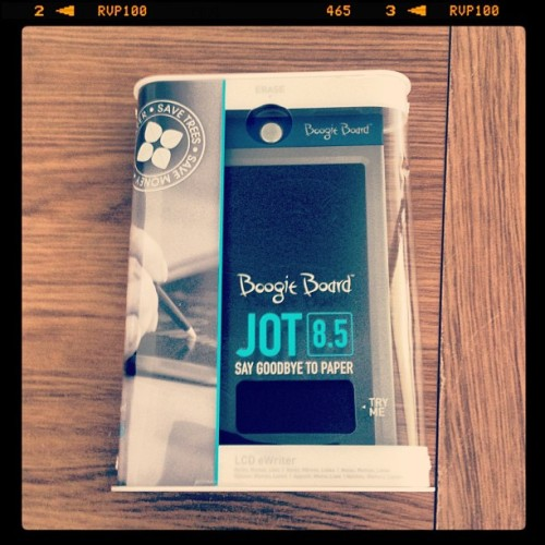 I just had the @Boogie_Board Jot 8.5 turn up for review -