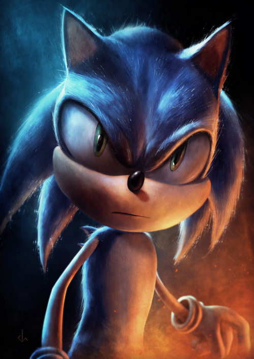 Sonic the Hedgehog is about ready to unleash his fury is this fan illustration created by 8bit Ego artist Josh Summana. This is the first of many hero themed video game art pieces that Josh is creating for a future gallery showcase. You may remember his previous series of nostalgic gaming villains. Sonic by Joshua Summana (8bit Ego Tumblr) (Twitter) submitted by Joshua Summana