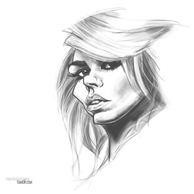 portrait-challenge:  Billie Piper | Rose Tyler by dankershaw  I've joined Portrait Challenge on Tumblr. Go check it out here.This is my first entry, the challenge of 'Doctor's Companions'. Billie has such an interesting face to draw.
