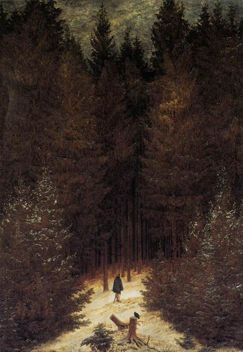 Caspar David Friedrich, The Chasseur in the Forest (1814)